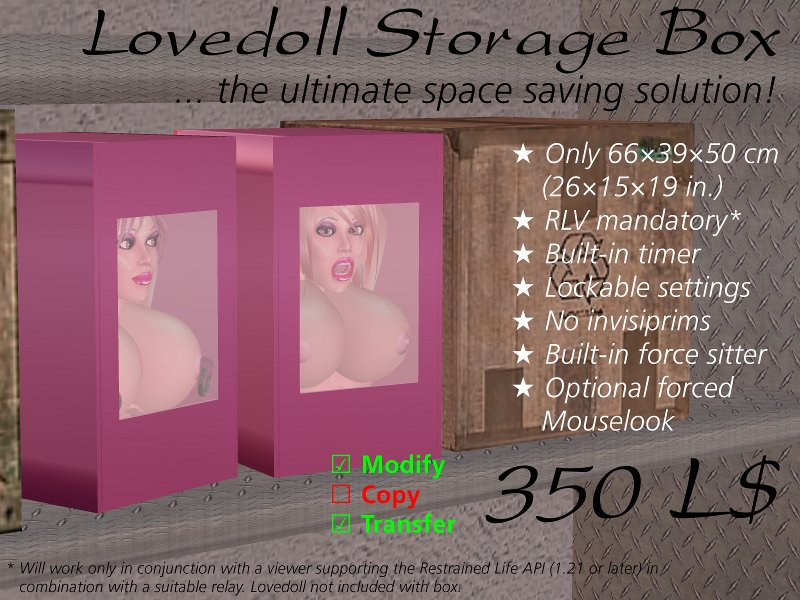 Lovedoll Storage Box