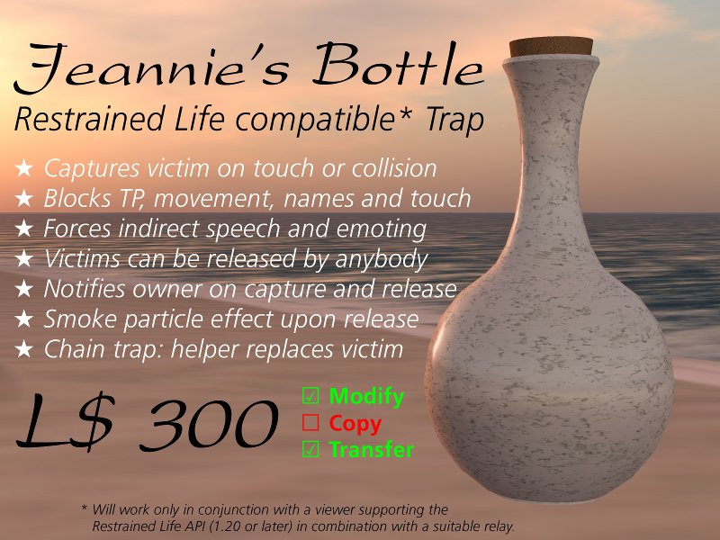 Jeannie's Bottle Ad