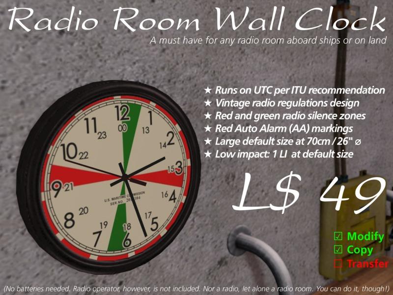Radio Room Wall Clock